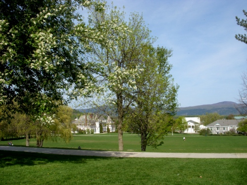 Battell Beach, Middlebury College, on a lovely spring day.